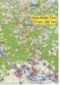 Hans-Müller-Tour Streckenplan