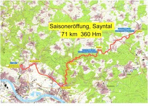 RTF Saisoneroeffnung Sayntal